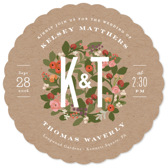 wedding invitations - Waverly florals by Jennifer Wick