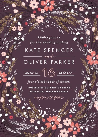 wedding invitations - Grand Fleur by Kristie Kern