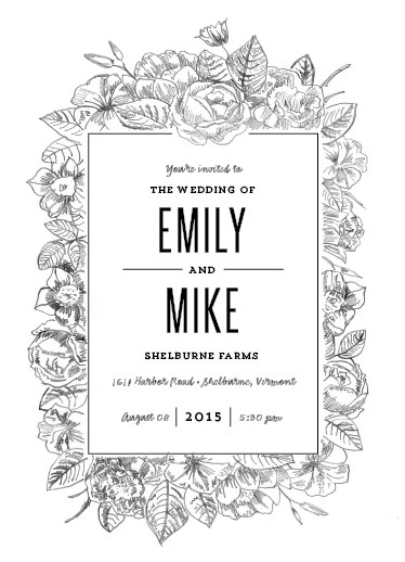 wedding invitations - Sketched Foliage by Smudge Design