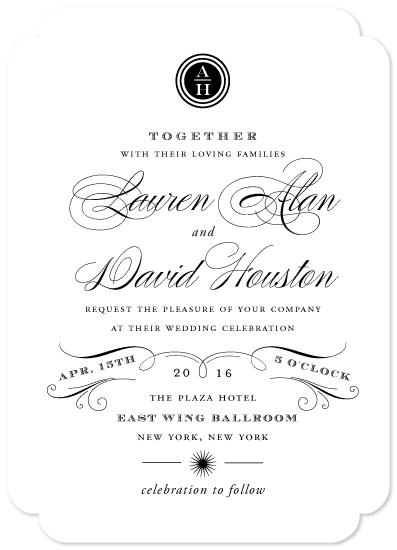 wedding invitations - Regal by Oscar & Emma