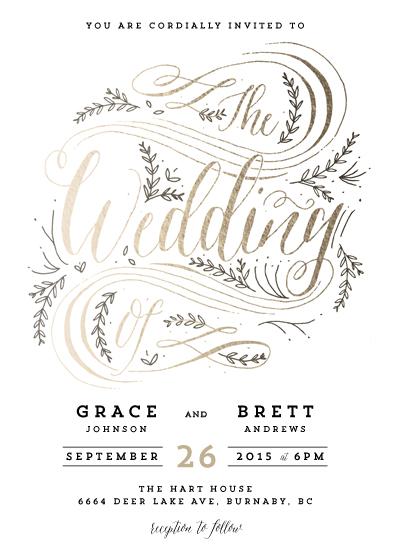 wedding invitations - garden flourish by Kelly Schmidt