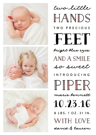 birth announcements - Sweet Type by Erica Krystek
