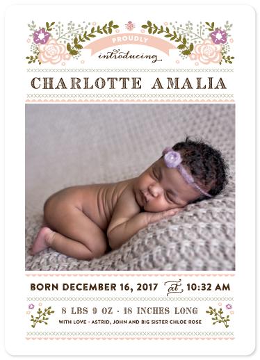 birth announcements - petite coccinelle by Bonjour Paper