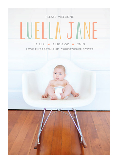 birth announcements - Luella by Chelsey Scott