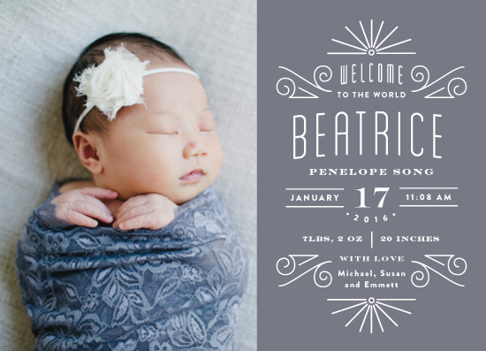 birth announcements - Petite Deco by Olivia Raufman