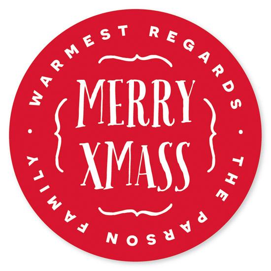 stickers - XMASS by Christina Novak