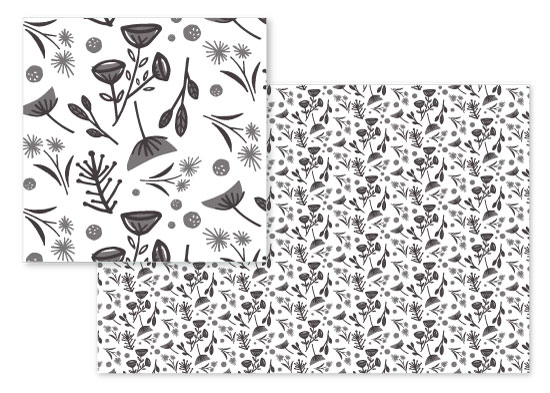 fabric - Retro Florals by Olivia Raufman