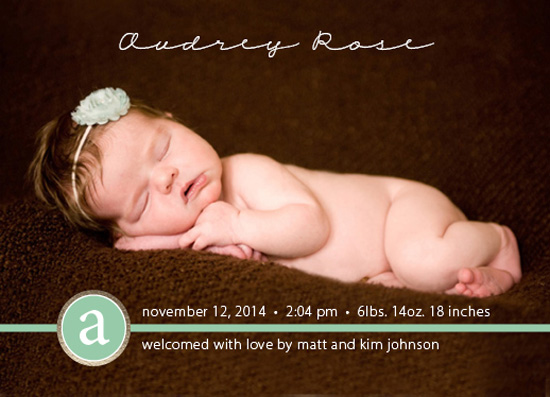 birth announcements - Simply Sweet Monogram by Christine Simons