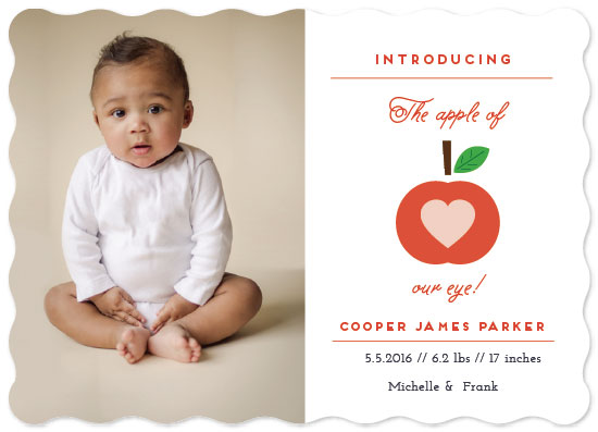 birth announcements - Apple of our eyes! by Nazia Hyder