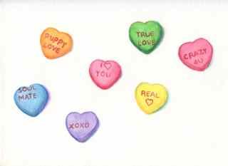 art prints - Candy Hearts by Charlene Landry
