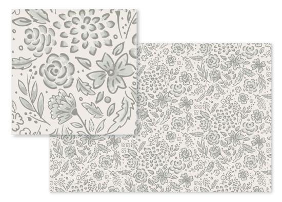fabric - Graffiti Flora by Petra Kern