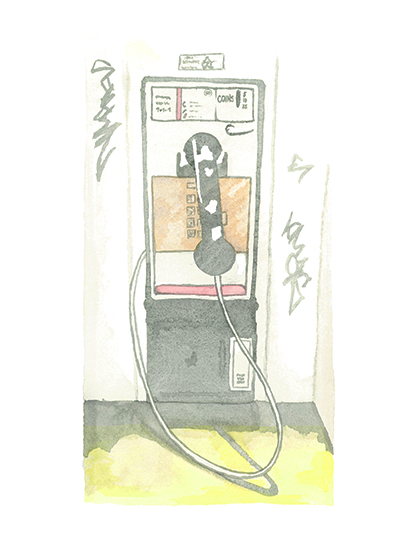 art prints - The Pay Phone by Michelle Waldie