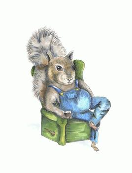 Squirrel With Jack-n-Coke