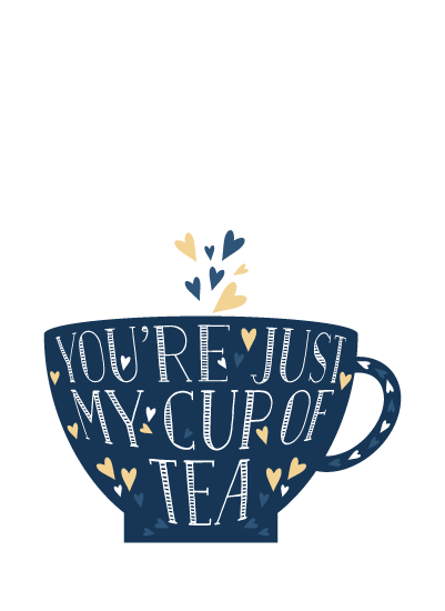art prints - Lettered Cup of Tea by curiouszhi design