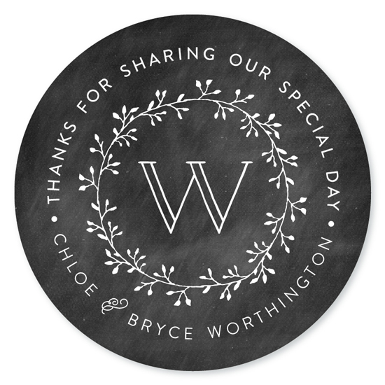 stickers - Chalkboard Monogram by Dea and Bean