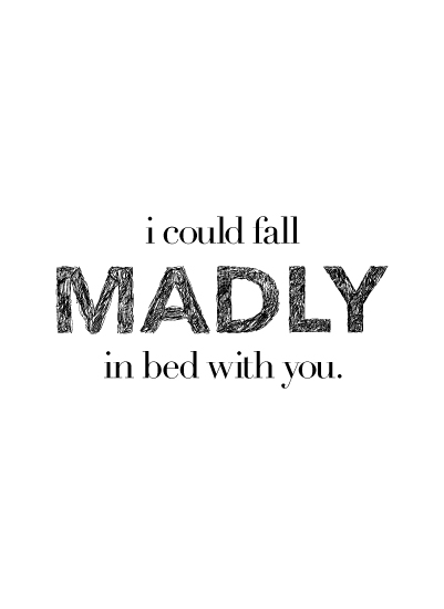art prints - Madly in Bed by The Letterist
