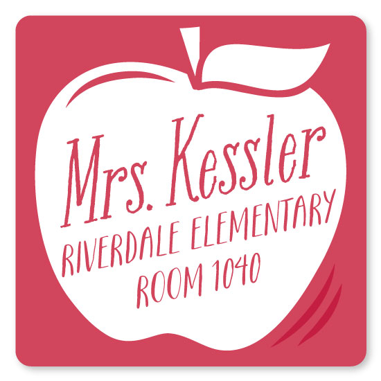 stickers - Teacher's Apple by Jessie Steury