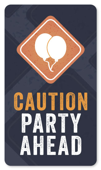 stickers - Caution: Party Ahead by Rachel Buchholz