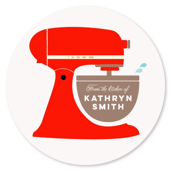 stickers - Vintage Kitchen Mixer by Katie Zimpel