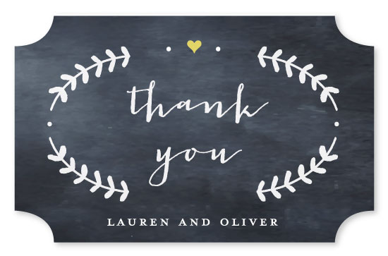 stickers - Oval Love Thank You Label by Susan Brown