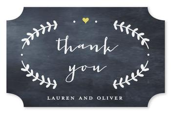 Oval Love Thank You Label