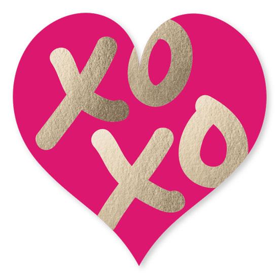 stickers - xoxo heart by Lisa Tamura Guerrero