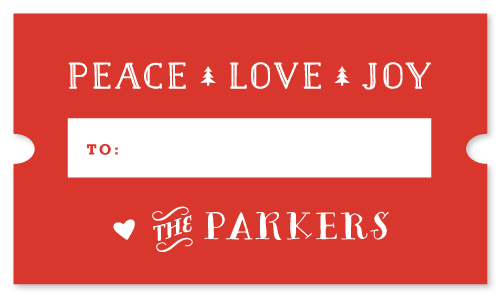 stickers - Peace Love Joy Ticket by Carolyn MacLaren