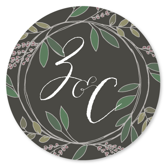 stickers - Rustic Wreath by The Paper Starling