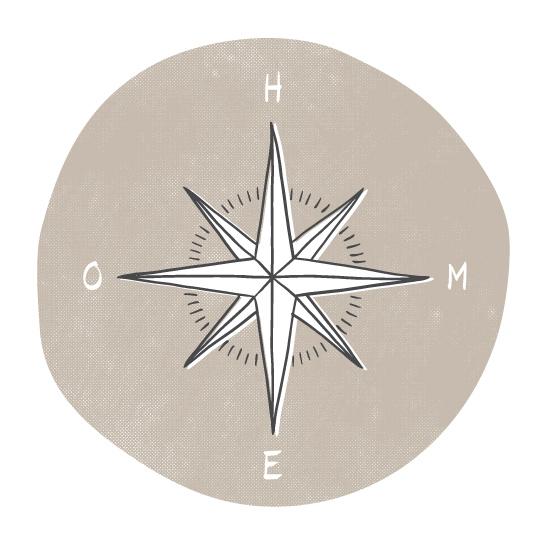 art prints - Traveler's Compass by Letter19Design