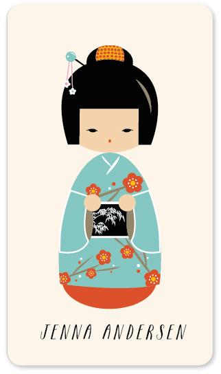 stickers - kokeshi by chocomocacino