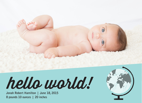 birth announcements - Worldwide Greeting by Stephanie Budd Design