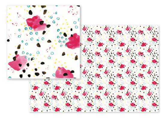 fabric - Dotted Abstract by Lindsay Megahed