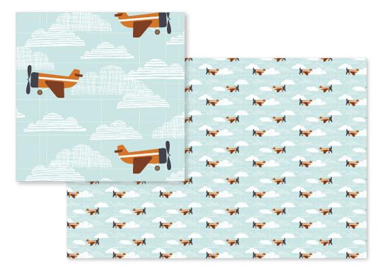 fabric - planes by JeAnna Casper