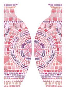 Mosaic Water Jugs in Pink 2