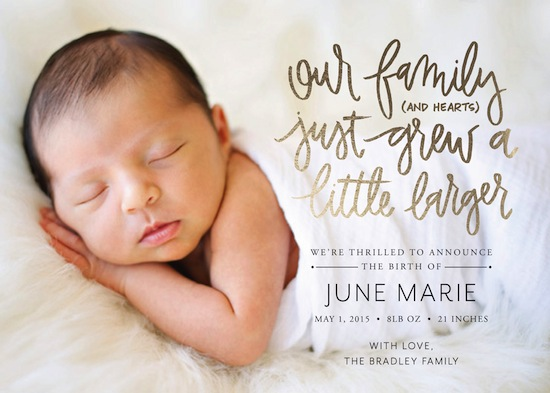 birth announcements - Hearts of Gold by Green Tie Studio