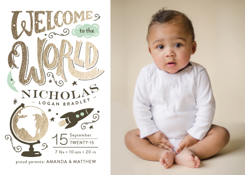birth announcements - Blast Off by Griffinbell Paper Co.