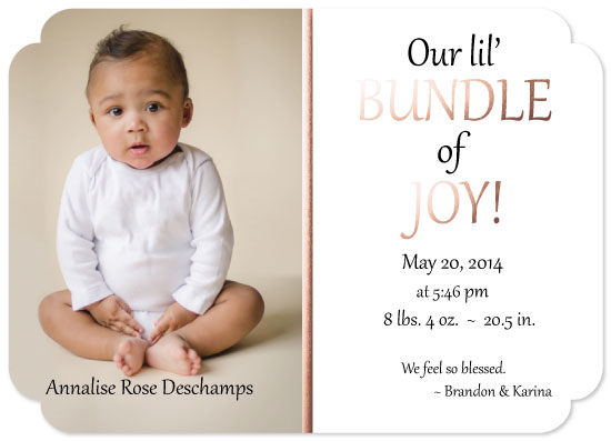 birth announcements - So Blessed by KC Design