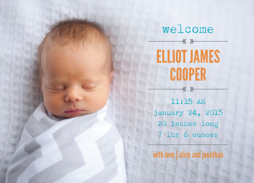 birth announcements - welcome, baby by Dogear Press