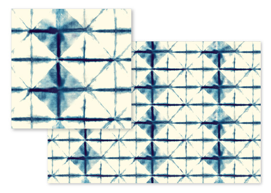 fabric - Shibori Diamonds by Flora Poste Studio