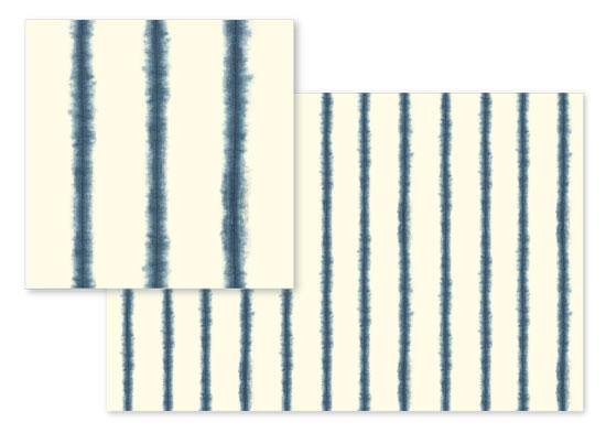 fabric - Hand-dyed Shibori Stripes by Flora Poste Studio