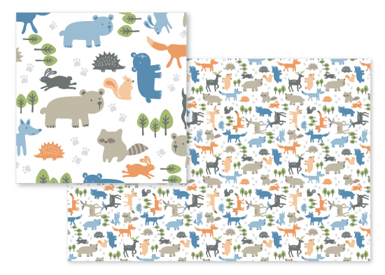 fabric - Forest friends by Stylisti