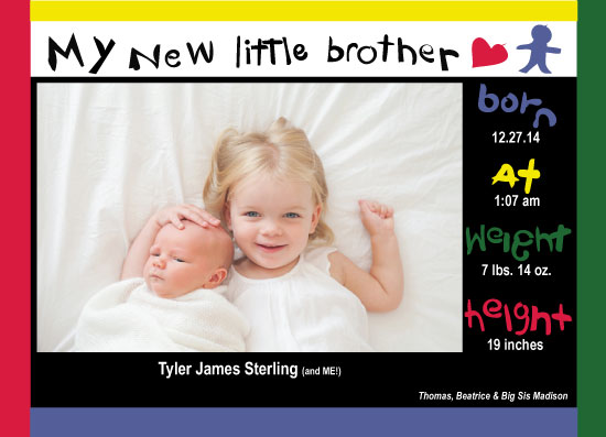 birth announcements - Colorful Excitement by KC Design