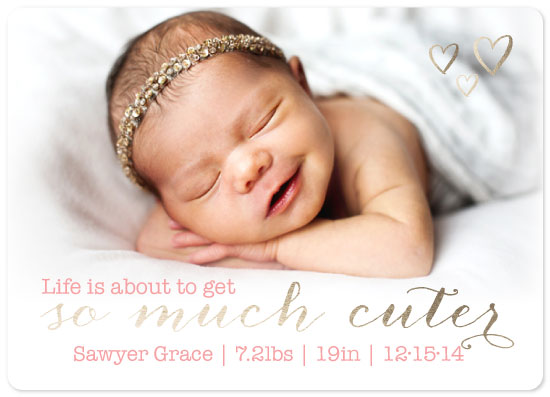 birth announcements - So Much Cuter by Jessica Alonso