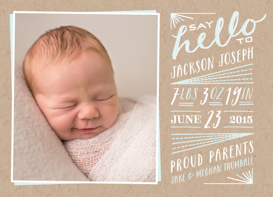 birth announcements - Hello New Baby by Leah Bisch