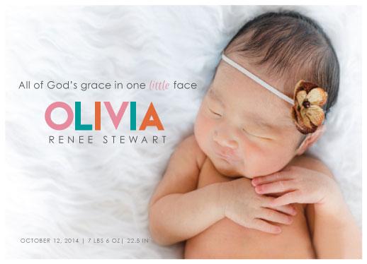 birth announcements - Little Graces by Amanda Miller