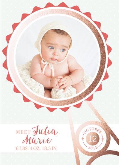 birth announcements - Baby's Rattle by Echo Artistry