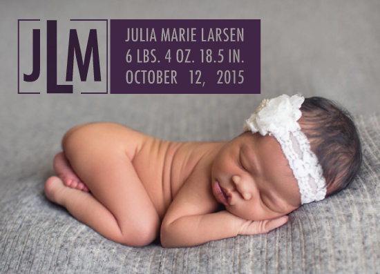 birth announcements - Modern Monogram by Echo Artistry