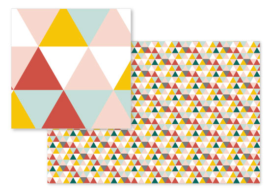 fabric - Seven Triangles by Cindy Lackey