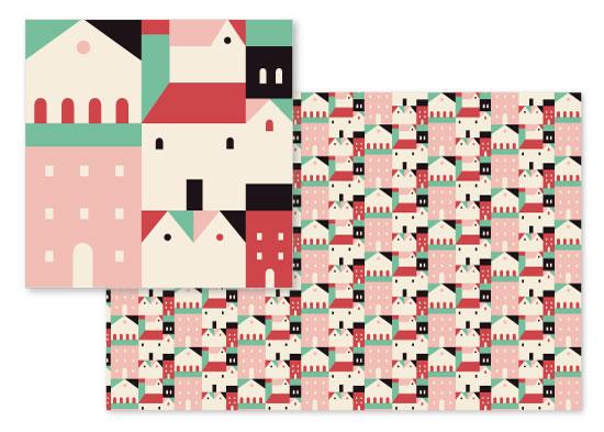 fabric - Casitas by Olivia Raufman