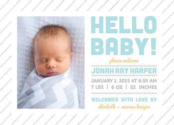 Modern Hello Baby